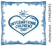 1 june international childrens... | Shutterstock .eps vector #1744618451