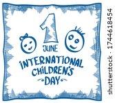 1 june international childrens... | Shutterstock .eps vector #1744618454