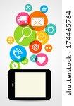 business internet on  different ... | Shutterstock .eps vector #174465764