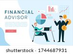 financial advisor giving advice ... | Shutterstock .eps vector #1744687931