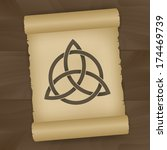 triquetra symbol painted on...   Shutterstock .eps vector #174469739