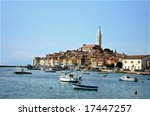 Old fisher town - stock photo