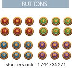 set of buttons for mobile games ...