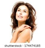 beauty woman. beautiful young... | Shutterstock . vector #174474185