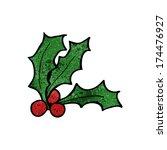 cartoon holly | Shutterstock .eps vector #174476927