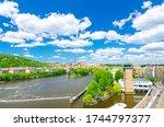 Aerial Panoramic View Of Prague ...