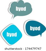 byod. set of stickers  labels ... | Shutterstock . vector #174479747
