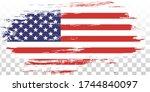grunge usa flag. distressed... | Shutterstock .eps vector #1744840097