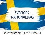 sweden national day card ... | Shutterstock .eps vector #1744849331