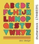 abc design. vector illustration | Shutterstock .eps vector #174485591