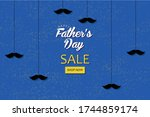 cute happy father's day... | Shutterstock .eps vector #1744859174