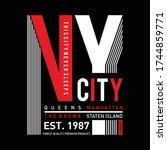 new york city typography t... | Shutterstock .eps vector #1744859771