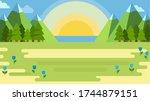 illustration of a summer... | Shutterstock .eps vector #1744879151