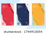 set of minimalist social media... | Shutterstock .eps vector #1744913054