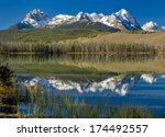 Sawtooth mountain range of Idaho and little redfish lake