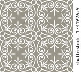 ornamental seamless pattern.... | Shutterstock .eps vector #174492659