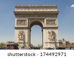arc de triomphe   paris  france. | Shutterstock . vector #174492971