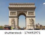 arc de triomphe   paris  france.   Shutterstock . vector #174492971