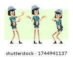 cartoon flat hipster girl... | Shutterstock .eps vector #1744941137