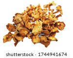 Dried Chanterelles Close Up On...