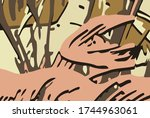 abstract background.... | Shutterstock .eps vector #1744963061