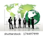 business people silhouettes.... | Shutterstock .eps vector #174497999
