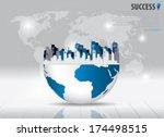 city. vector illustration. | Shutterstock .eps vector #174498515