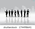 businessman silhouettes with... | Shutterstock .eps vector #174498641