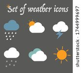modern weather icons set. flat... | Shutterstock .eps vector #1744999697