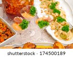 delicous food on the party | Shutterstock . vector #174500189