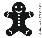 Gingerbread Man Icon. Simple...