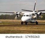 small turboprop commuter plane... | Shutterstock . vector #17450263