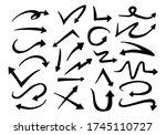 arrows hand drawn doodle vector ... | Shutterstock .eps vector #1745110727