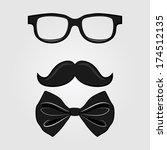 retro symbolic illustration of... | Shutterstock .eps vector #174512135