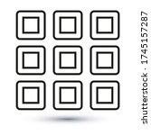 menu icon  outline vector sign  ...