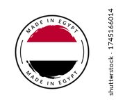 made in egypt vector round label | Shutterstock .eps vector #1745166014