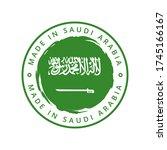 made in saudi arabia vector... | Shutterstock .eps vector #1745166167