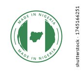 made in nigeria vector round... | Shutterstock .eps vector #1745166251