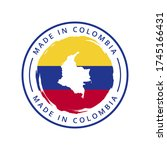 made in colombia vector round... | Shutterstock .eps vector #1745166431