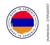 made in armenia vector round... | Shutterstock .eps vector #1745166557
