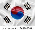 south korea flag official... | Shutterstock . vector #1745166584