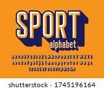 chisel style alphabet design... | Shutterstock .eps vector #1745196164
