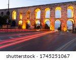 Aqueduct Of Valens In Istanbul...