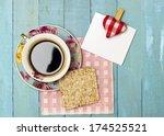 fresh turkish coffee and rice... | Shutterstock . vector #174525521