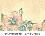 abstract floral background with ... | Shutterstock .eps vector #174527591