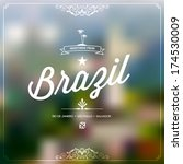 retro travel typography ... | Shutterstock .eps vector #174530009