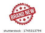 brand new rubber stamp. red... | Shutterstock .eps vector #1745313794