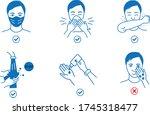 infographic steps how prevent... | Shutterstock .eps vector #1745318477