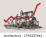 pumpjacks illustration. oil...   Shutterstock .eps vector #1745337461