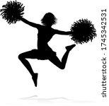 sports cheerleader in...   Shutterstock .eps vector #1745342531